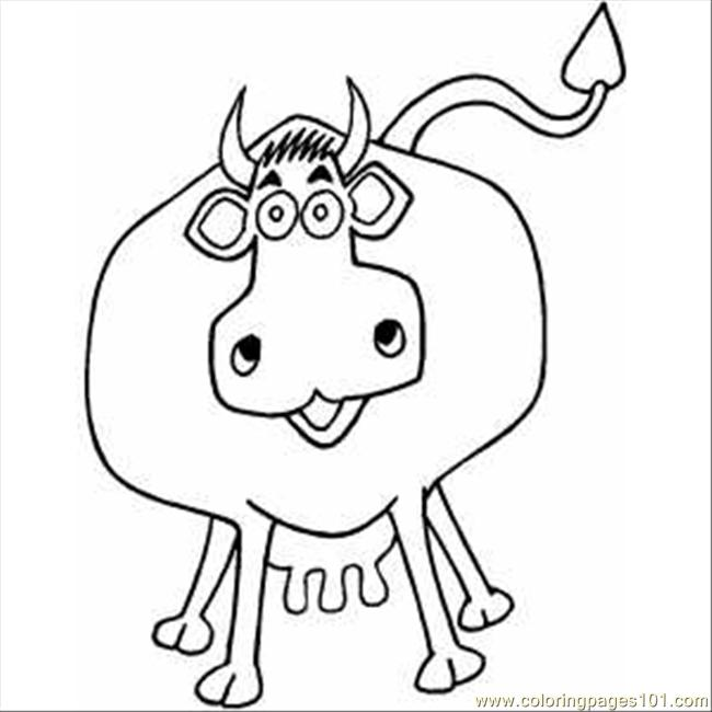 Happy1 Cow Coloring Page
