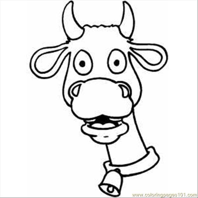 Shocked Cow Coloring Page