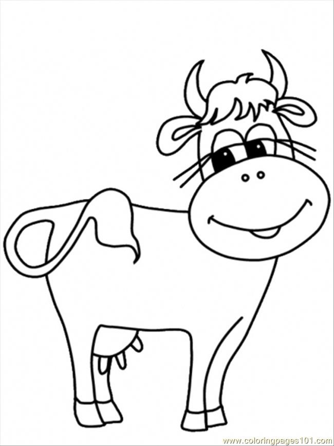 Normal Cow3 Coloring Page