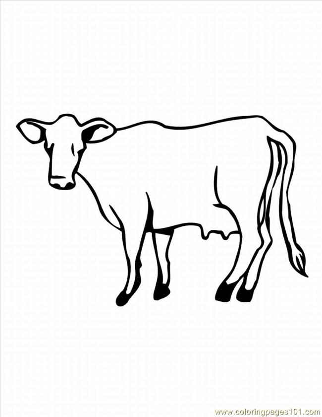 Of A Cow 1 Lrg Coloring Page