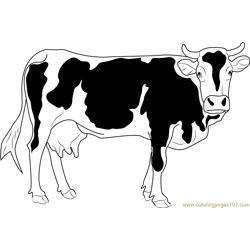 Cattles coloring page