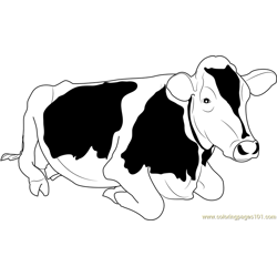 Jersey Cow Free Coloring Page for Kids