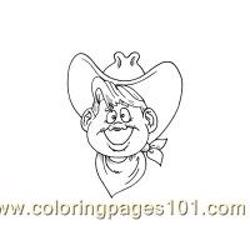 Cowboy Coloring Page 20(1) Free Coloring Page for Kids