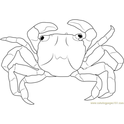 Christmas Island Red Crab Free Coloring Page for Kids