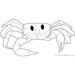 Crab Looking at You Free Coloring Page for Kids
