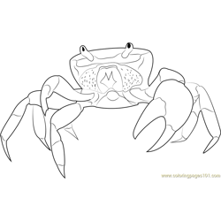 Halloween Crab Free Coloring Page for Kids