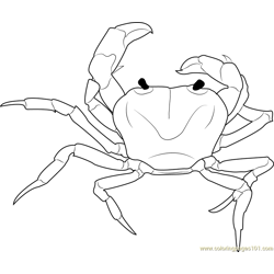 Purple Crab coloring page