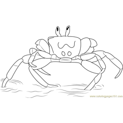 Walking Crab Free Coloring Page for Kids