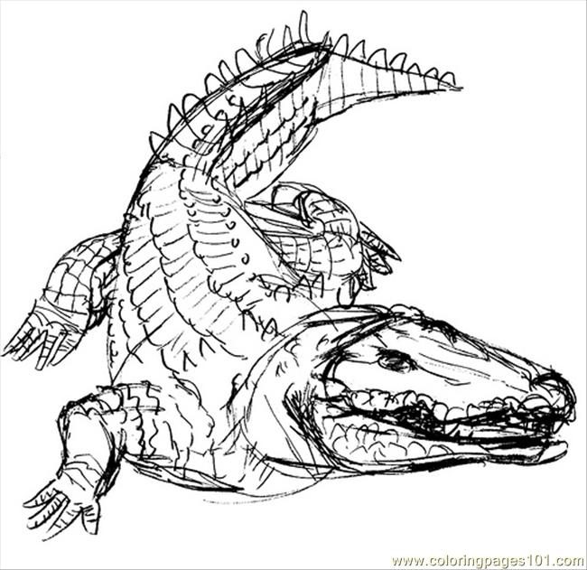 Crocodile9 Coloring Page Free Crocodile Coloring Pages