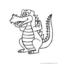 Crocodile Coloring Pages 4