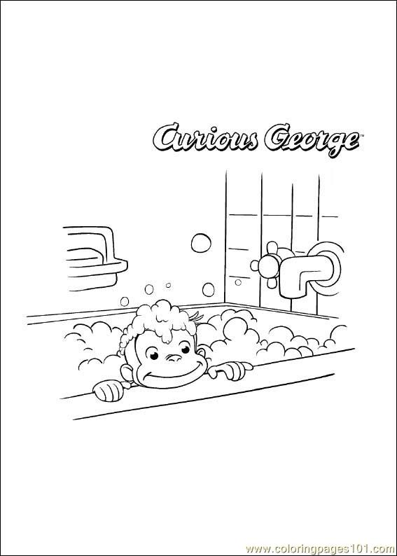 Curiousgeorge 04 Coloring Page