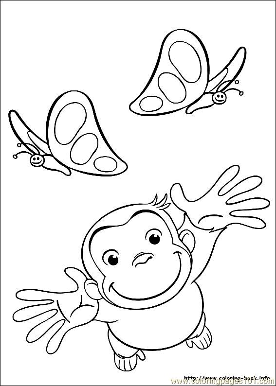coloring pages for curious george - photo#29