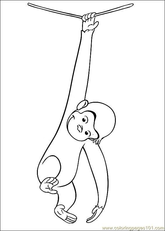 Curious George 18 Coloring Page