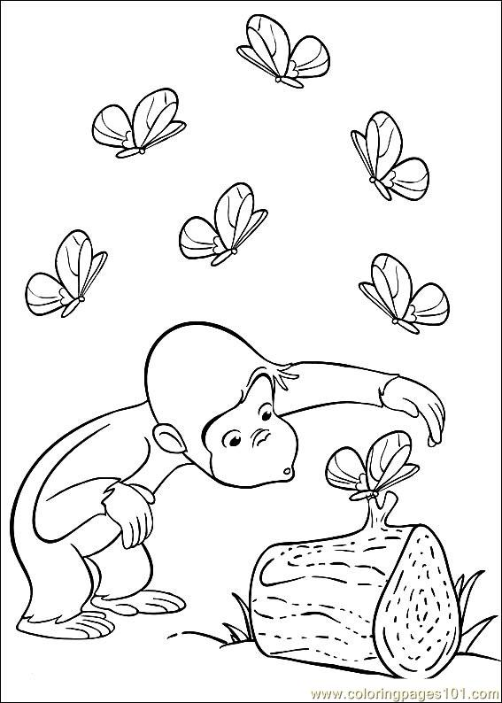 Curious George 19 Coloring Page