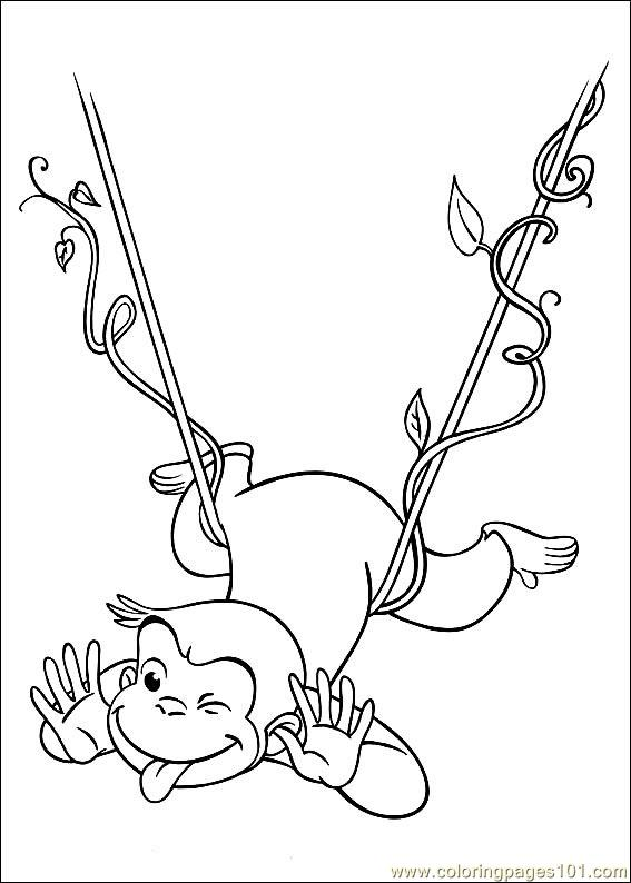 Curious George 28 Coloring Page