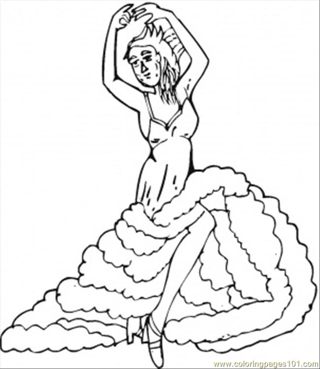 Flamenco Coloring Page - Free Dancing Coloring Pages ...