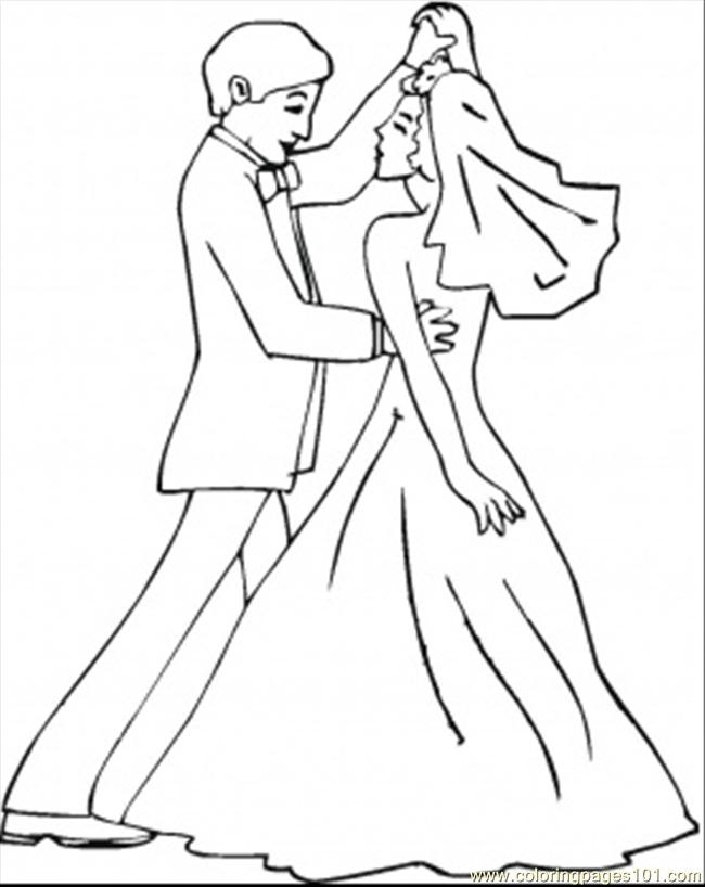 Wedding Dance Coloring Page