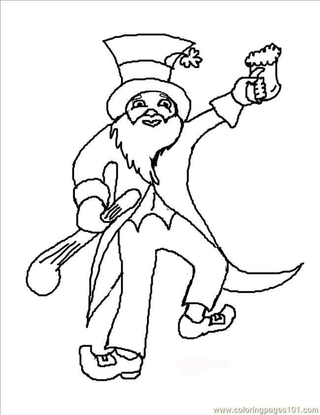 Able Leprechaun Coloring Page Coloring Page