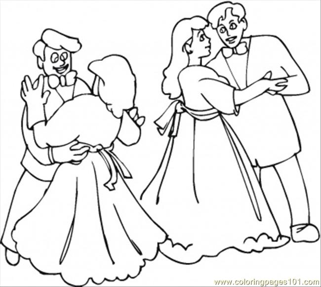 Dancing Festival Coloring Page