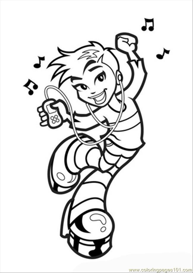 Es Photo Dancing Girl Dm11076 Coloring Page