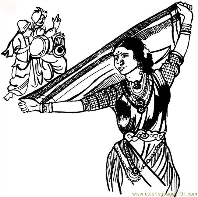 lavani classical dance coloring page - Dance Coloring Pages