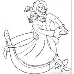 Dancing Tango Coloring Page