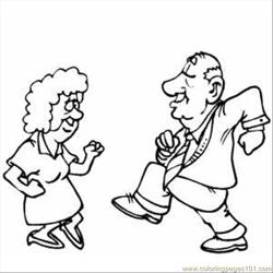Old Pair Dancing