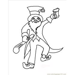 Able Leprechaun Coloring Page Free Coloring Page for Kids