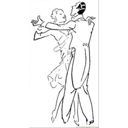 Dancing Couple Free Coloring Page for Kids
