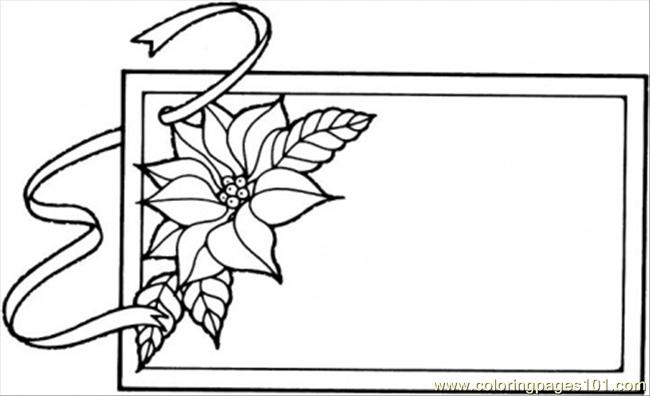 Frame With Flower Coloring Page