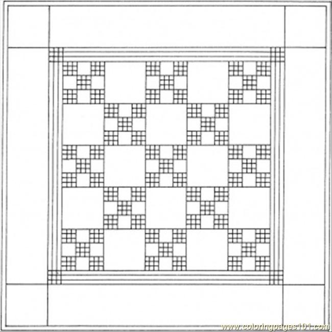 Quilt Coloring Page Free Decorations Coloring Pages
