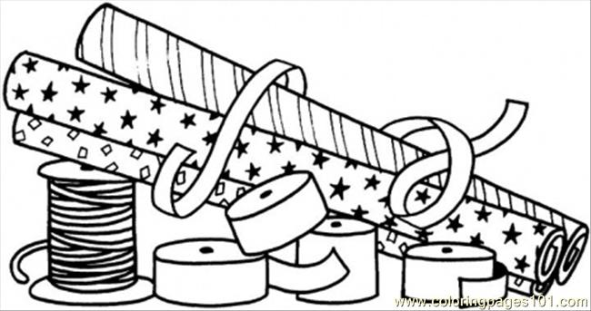 To Wrap The Gifts Coloring Page