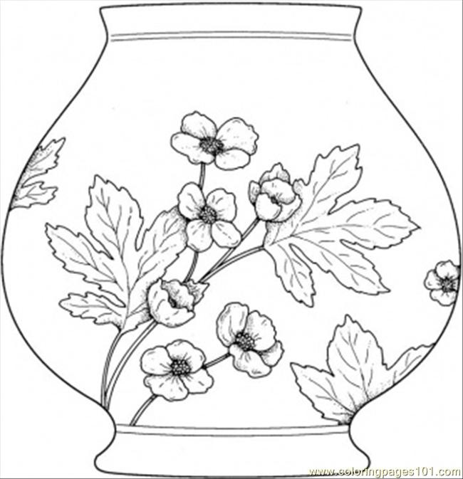 Vase Coloring Page