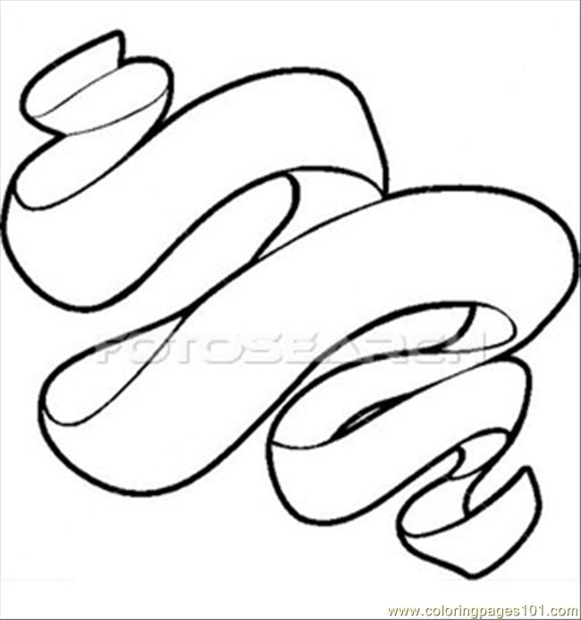 bon ribbons scroll coloring page