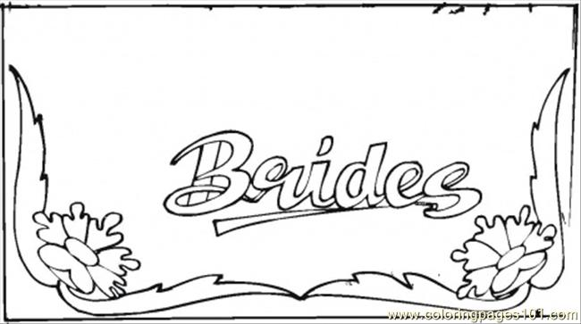 Brides Card Coloring Age Coloring Page
