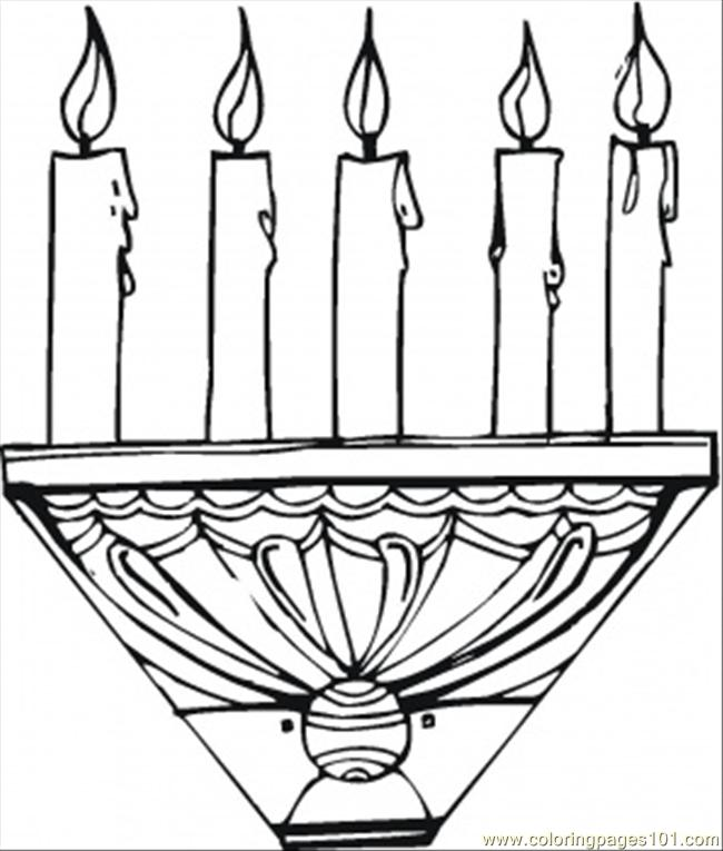 Candle Stick Coloring Page