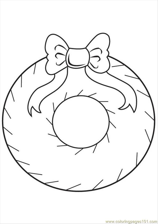 christmas decoration coloring page free decorations coloring pages