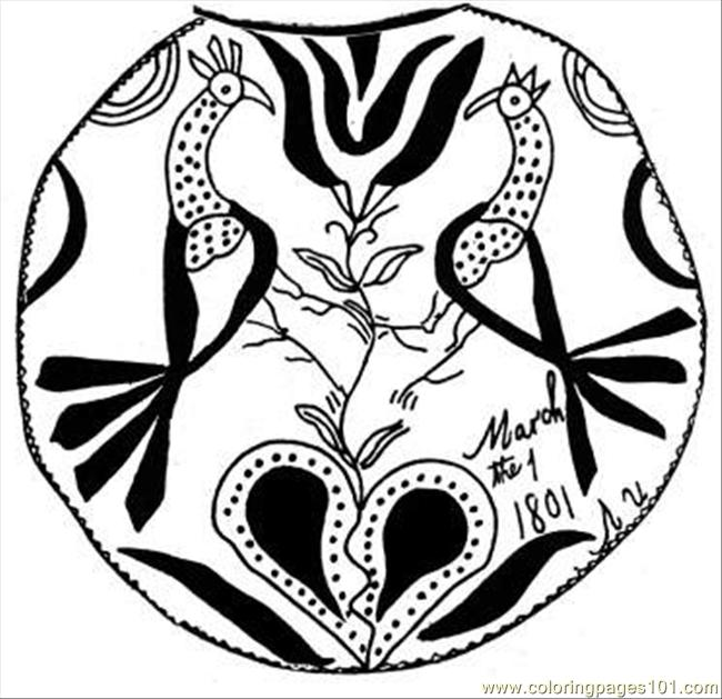 Cock Decoration Coloring Page Coloring Page