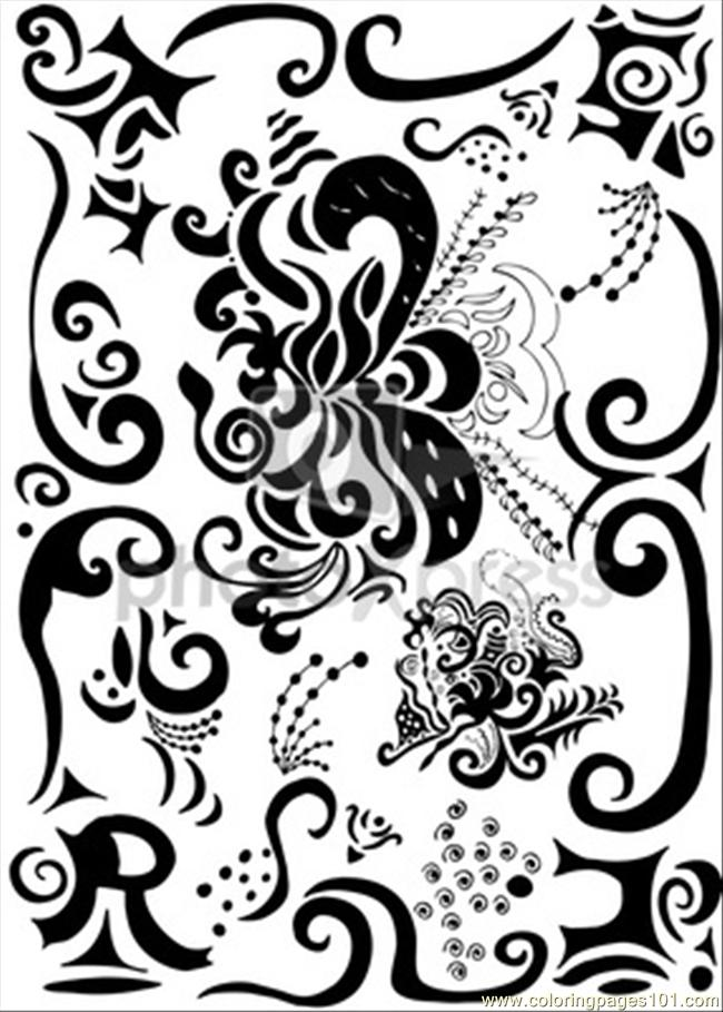 es pretty decoration o coloring page