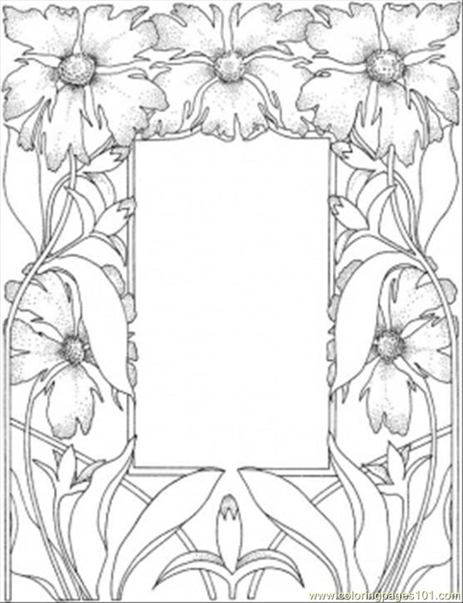 Gorgeous Picture Frame Coloring Page
