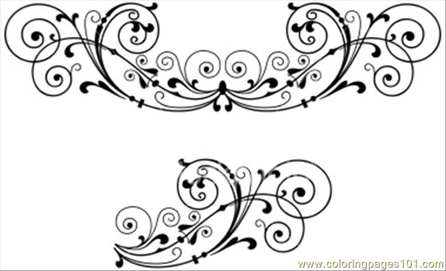 Hoto Scroll Decoration Coloring Page