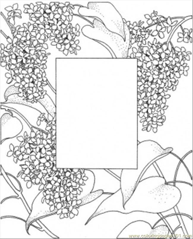 Photo Frame Coloring Page