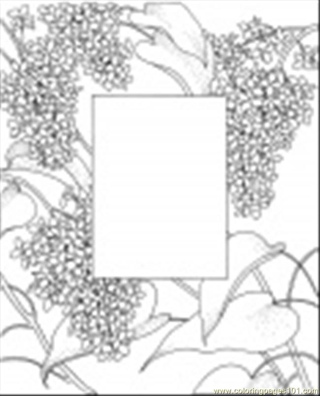 Photo Frame Coloring Page Coloring Page