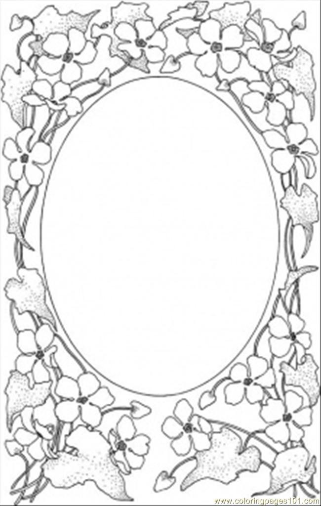 Picture Frame Coloring Page Free Decorations Coloring