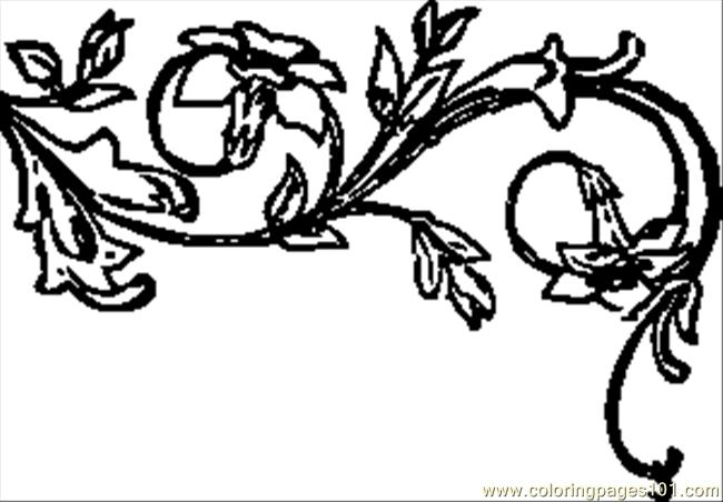 Tic Floral Decoration.svg.med Coloring Page