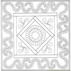 Birthday Quilt Free Coloring Page for Kids