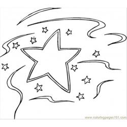 Decoration Star Free Coloring Page for Kids