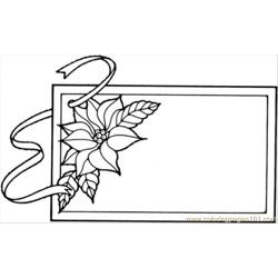 Frame With Flower Free Coloring Page for Kids
