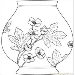 Vase Free Coloring Page for Kids