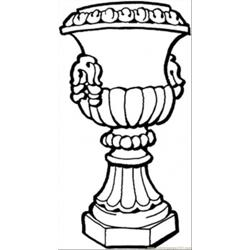 Vase For Decoration Free Coloring Page for Kids